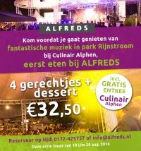 Voor Culinair Alphen, eerst genieten bij Alfreds!