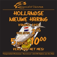 Hollandse nieuwe bij Sluizeman