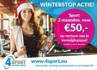 Winterstop actie bij 4Sport Training Center!