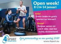 Open week van 8 tot en met 14 januari!