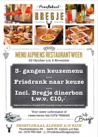 Proeflokaal Bregje doet mee aan de Alphens Restaurantweek!