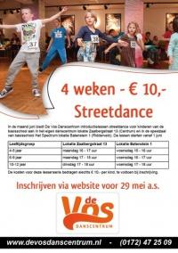 4 weken streetdance voor 10 euro!