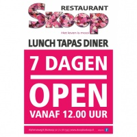 Nu 7 dagen per week open!