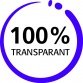 100% Transparant