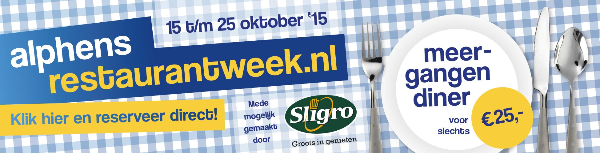 Alphens Restaurantweek