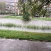 Hevige regenval in Alphen