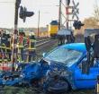 Geen treinen naar Leiden door aanrijding met auto