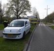 Fietser geschept door auto op Noorderkeerkring