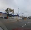 Dak van winkelcentrum De Ridderhof losgewaaid