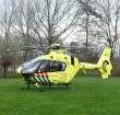 Traumahelikopter geland voor medische noodsituatie