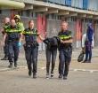 Politie bekogeld met eieren op het Topaasplantsoen
