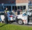 Ongeluk met drie autos bij station Alphen