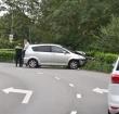 Automobilist vliegt uit de bocht op de Hoorn in Alphen