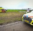 Traumahelikopter aan de grond bij Alphen door mist