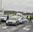 Drie autos gebotst op de N11 bij de Leidse Schouw
