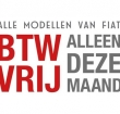 Alle Fiat modellen BTW vrij in oktober 2017