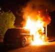 Auto brandt uit op de Akkerwinde in Alphen
