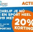 Sport heel 2019 met korting bij 4Sport Training Center