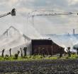 Rook van brand Hazerswoude-Dorp in Alphen te zien