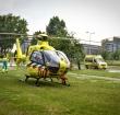 Traumahelikopter landt bij Den Uylsingel in Alphen