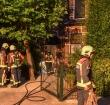 Bewoners van dak gered bij brand in Stationsstraat