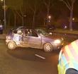 Eenzijdig ongeval, auto botst tegen een boom