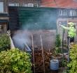 Brandweer rukt uit voor tuinbrandje op de Aarkade