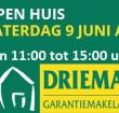 Zaterdag 9 juni open huis bij Drieman Garantiemakelaars