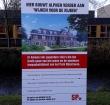 SP plaatst makelaarsbord in park Rijnstroom