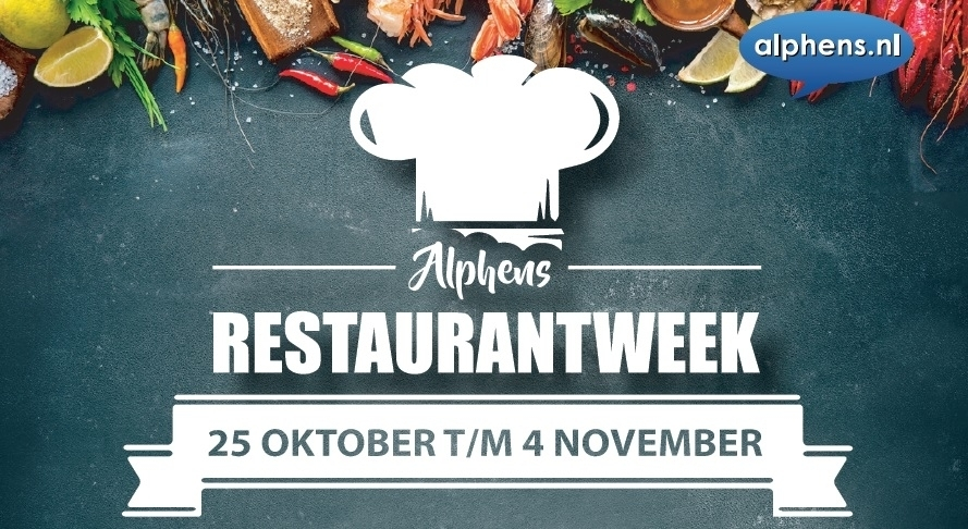 Donderdag is eerste dag van Alphens Restaurantweek