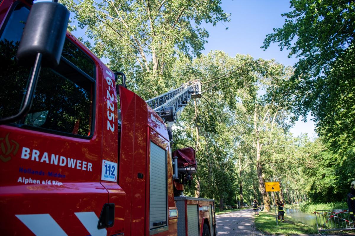 Brandweer heeft het druk met stormschade