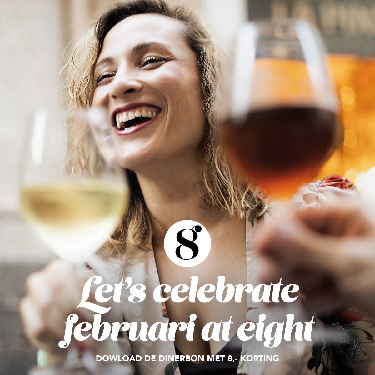 Februari-actie bij Grand Café Eight: 8 euro korting op diner voor twee