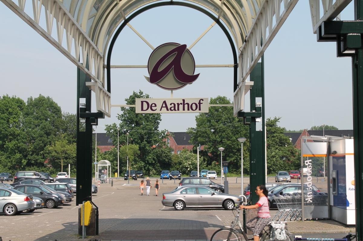 Overkapping van Aarhof bij Aarplein wordt ingekort