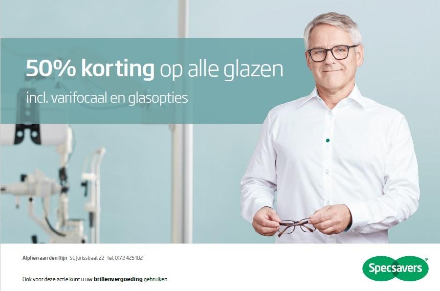 Tijdelijk bij Specsavers 50% korting op uw glazen