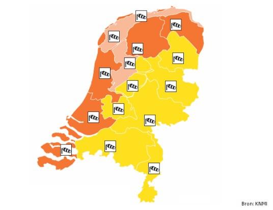 KNMI geeft code oranje af vanwege zware windstoten