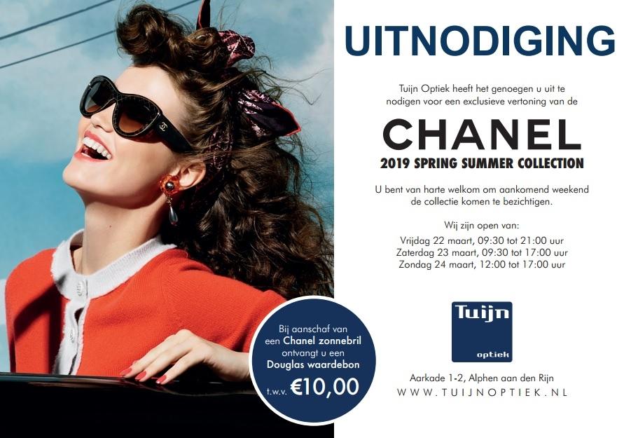 Kom naar het Chanel weekend bij Tuijn Optiek!