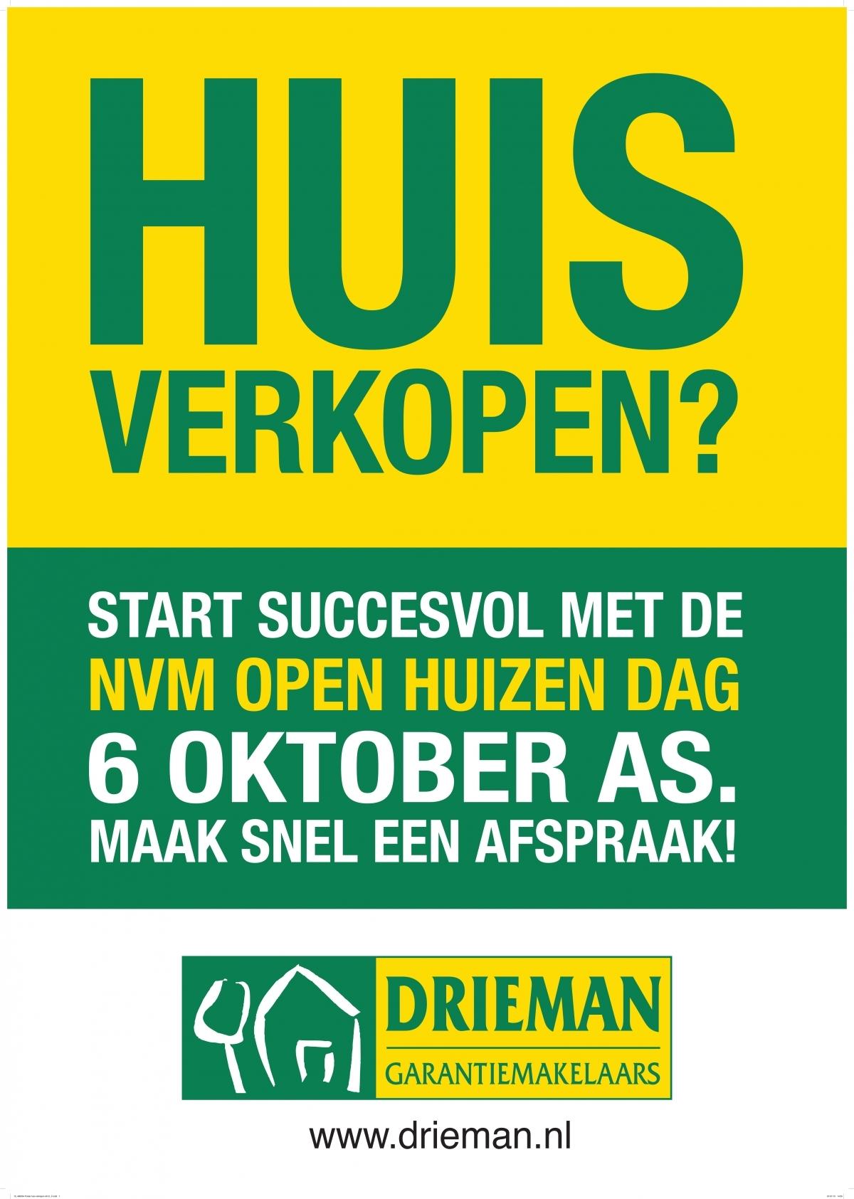 Verkoop je huis succesvol met de NVM Open Huizendag 6 oktober a.s.