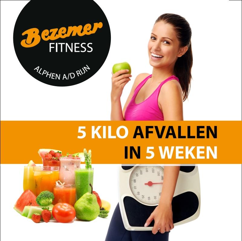 Bezemer Fitness start met actie 5 Kilo in 5 Weken