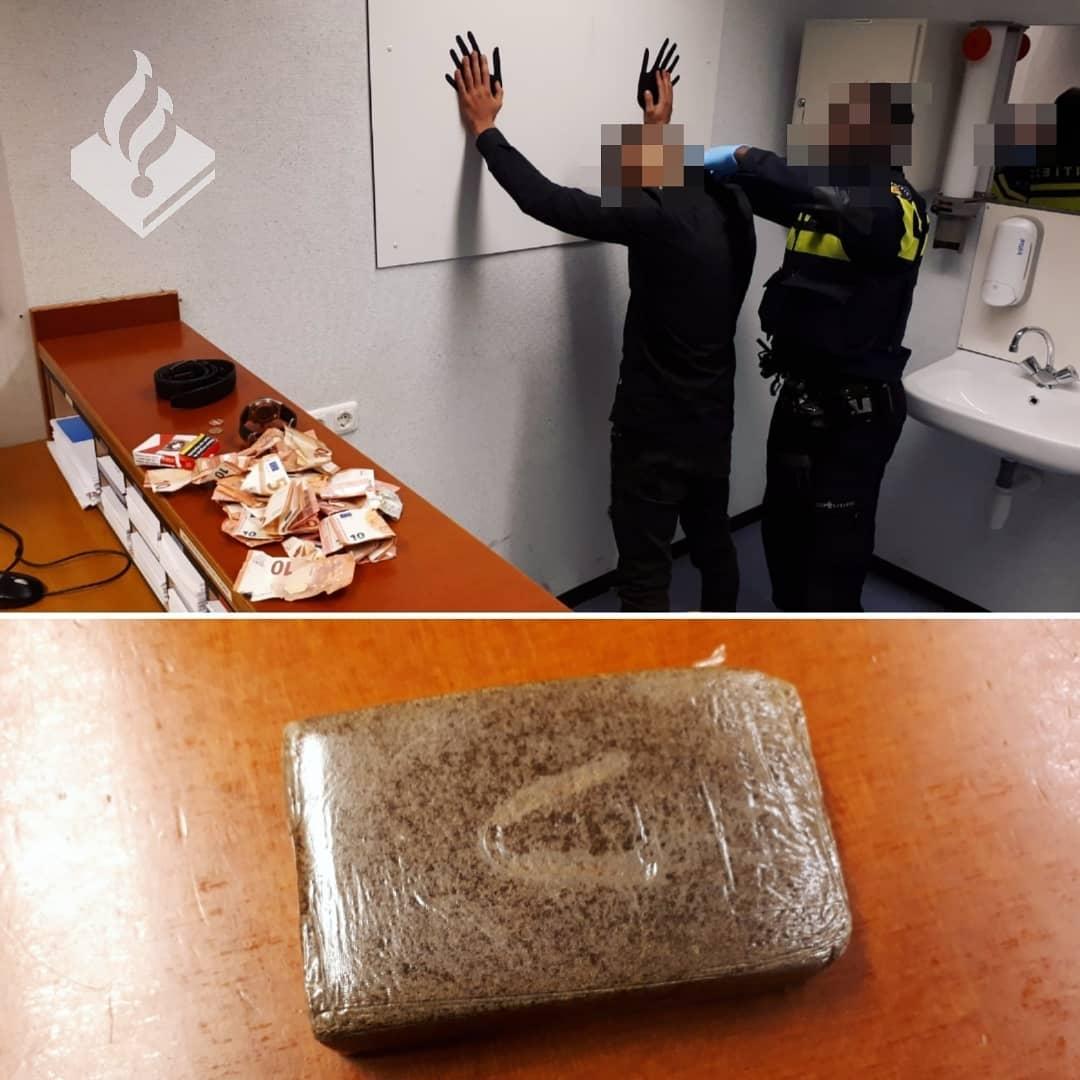 Man met drugs en geld op zak scheldt agenten uit