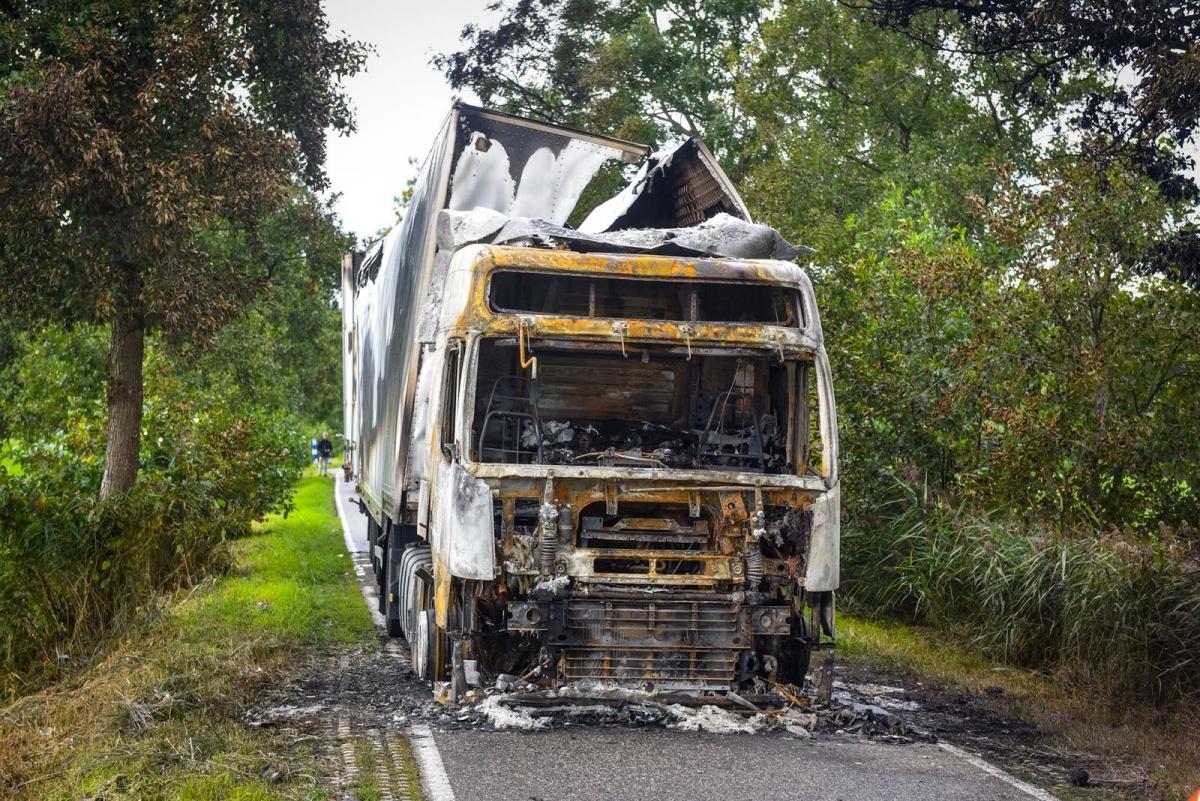Arrestatie in onderzoek naar uitgebrande vrachtwagen