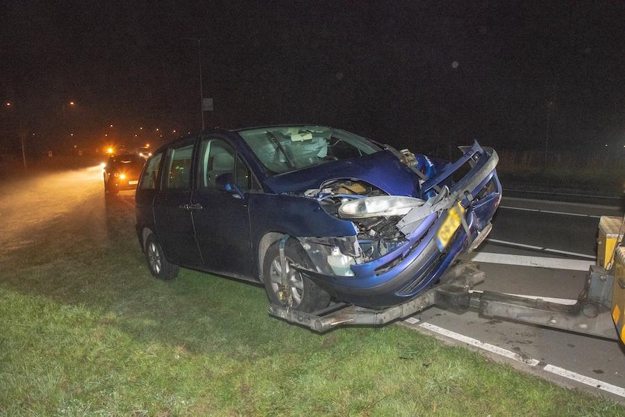 Auto crasht op de Goudse Schouw, bestuurder spoorloos