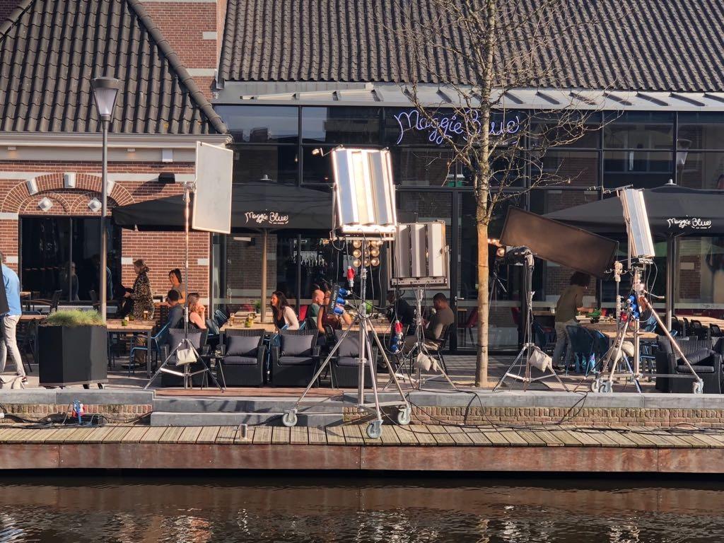 Terras Maggie Blue decor voor opnamen Heineken