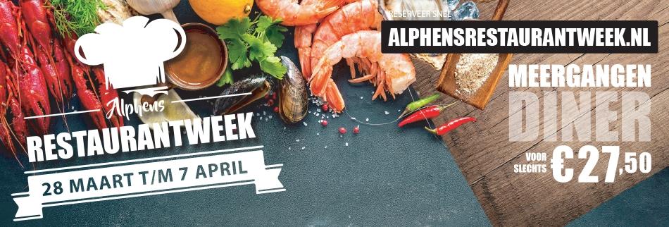 De Alphens Restaurantweek is begonnen!