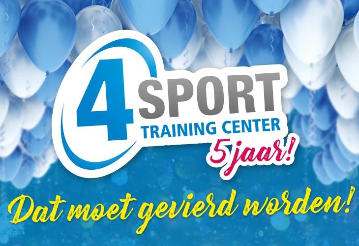 4Sport Training Center bestaat vijf jaar!