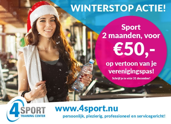 Winterstop actie bij 4Sport Training Center!