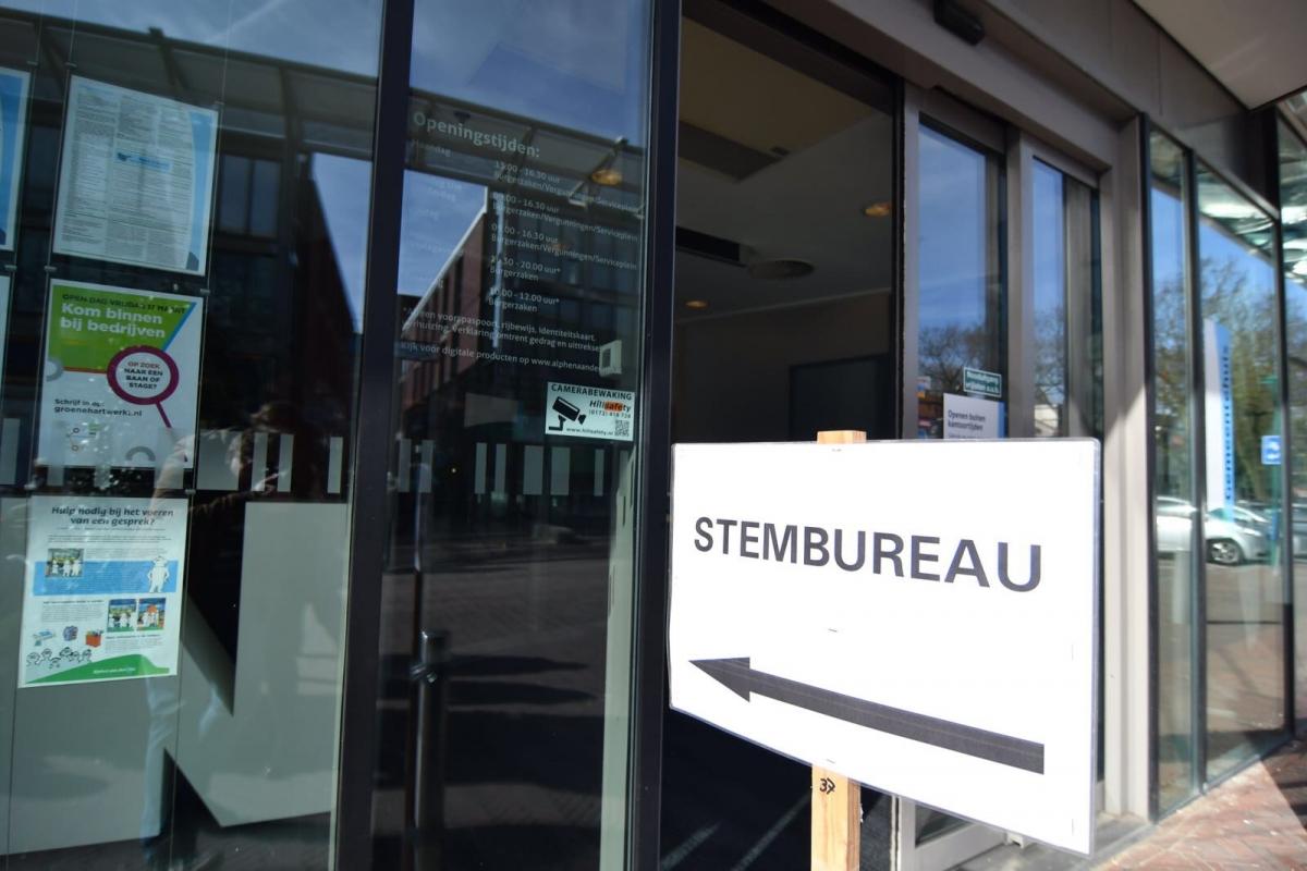 Locaties van stembureaus in Alphen aan den Rijn