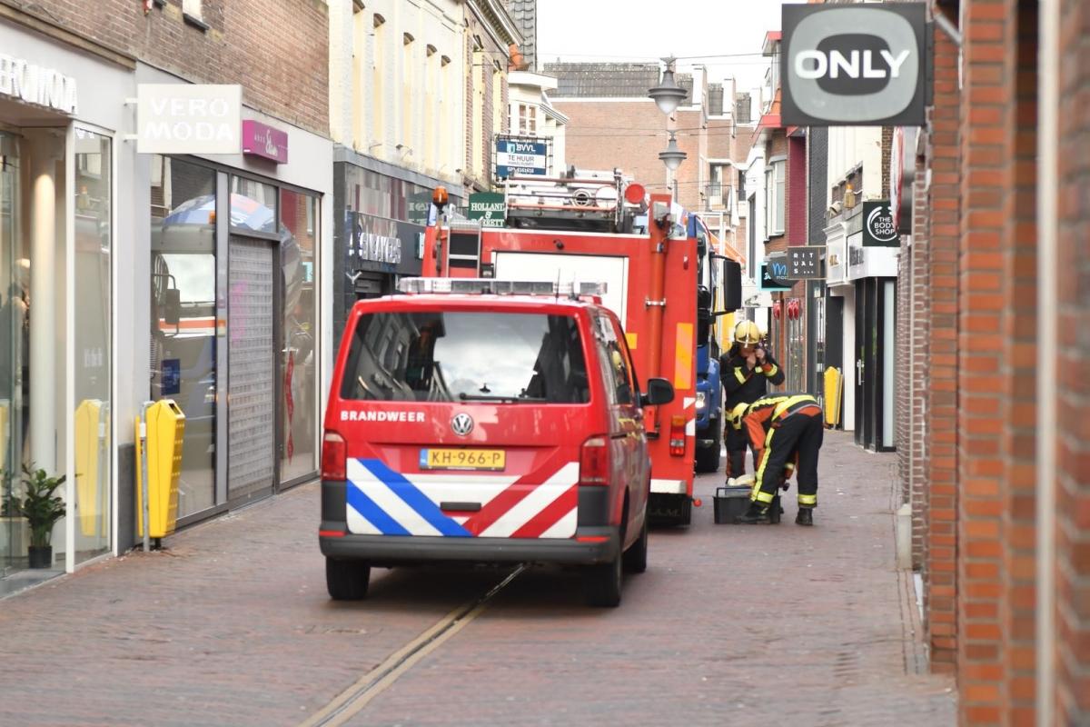 Winkelstraat afgesloten in verband met gaslekkage