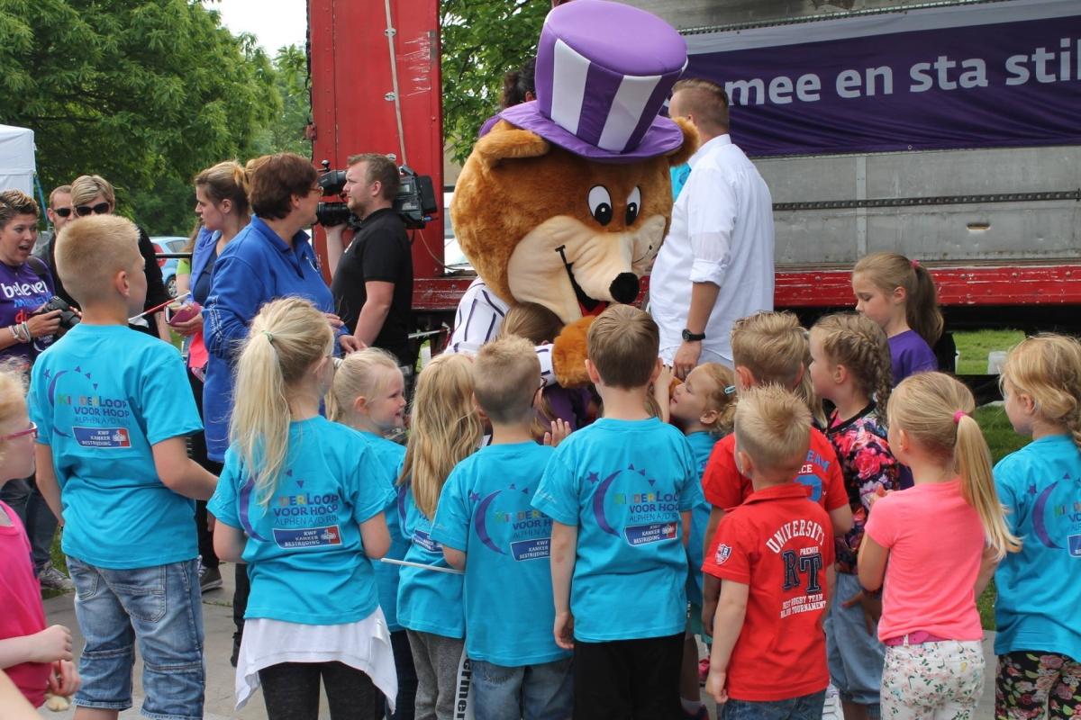 KinderLoop tijdens SamenLoop voor Hoop Alphen