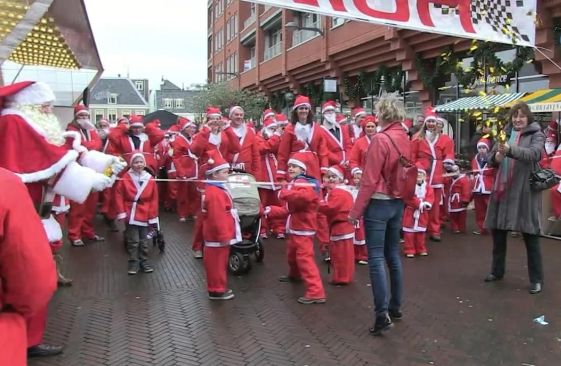 Santa Run op 15 december in het Alphense centrum