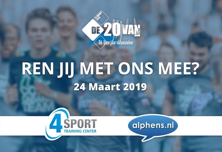 Loop de 20 van Alphen met team Alphens.nl - 4Sport!